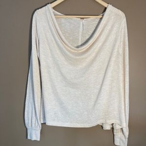Free people cowl neck gold thread sweater tee